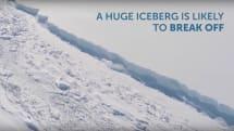 British scientists film massive rift in Antarctic ice shelf