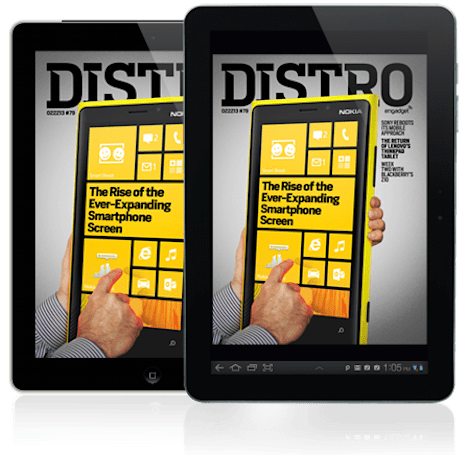 Distro Issue 79 examines the rise of the ever-expanding smartphone screen