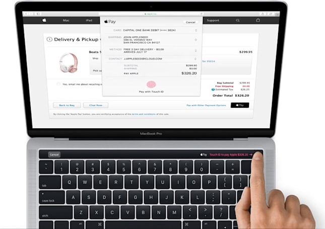MacBook Pro leak reveals an OLED touch strip and Touch ID