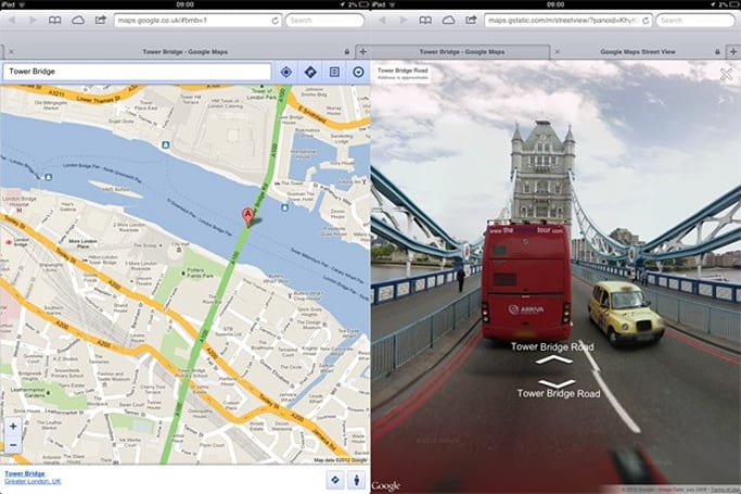 Street View comes to Google Maps web app on iOS, just like they said it would