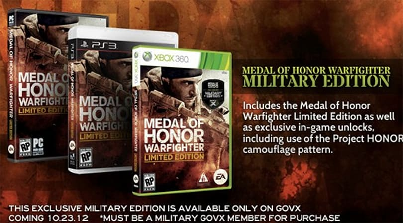 Medal of Honor: Warfighter gets military-only special edition