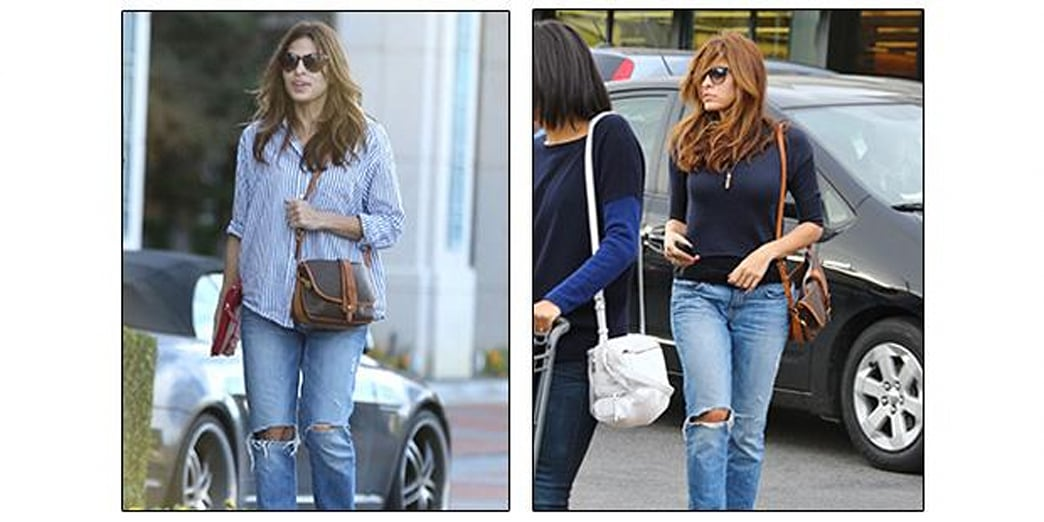 Two Days, Two Ways: Eva Mendes Shows Us How to Remix Our Boyfriend Jeans