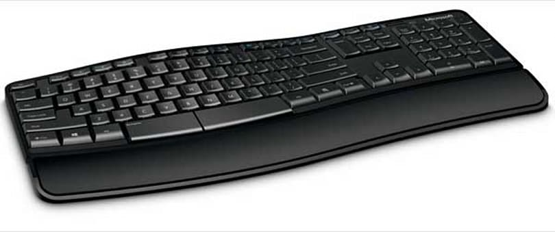 Microsoft intros Sculpt Comfort Keyboard, left end of the space bar can be used as a backspace key