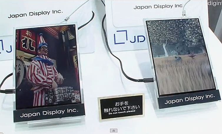 Japan Display shows low-power reflective LCD that does color, video
