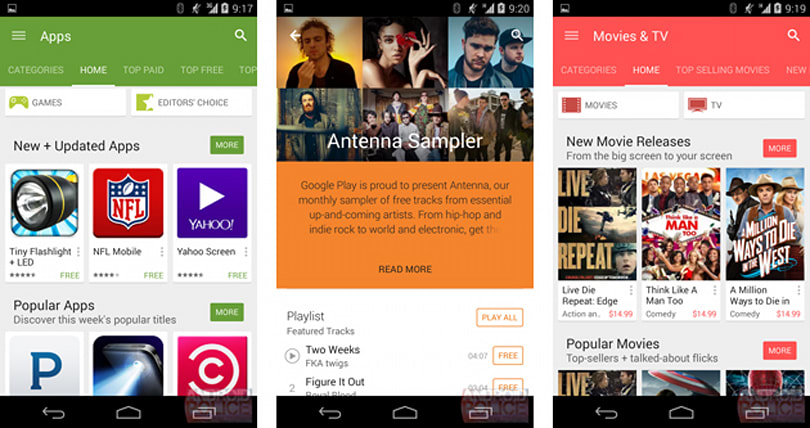 Android's new flatter design is taking over the Play Store app soon