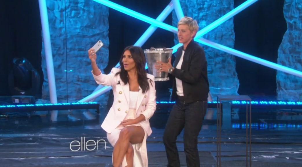Kim Kardashian finally does the ALS Ice Bucket Challenge