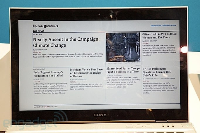 New York Times for Windows 8 hands-on (video)