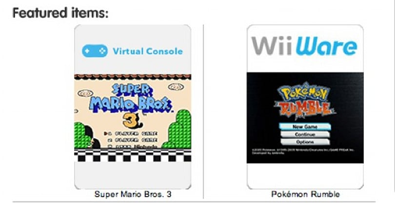 Nintendo selling downloadable games on online store