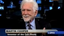 Cellphone inventor Marty Cooper uses a Droid.... and a Jitterbug