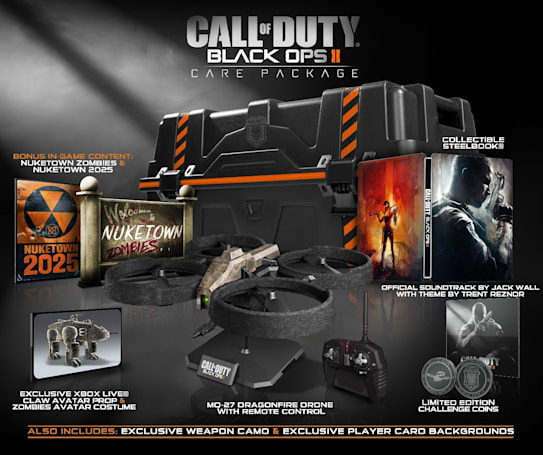Call of Duty: Black Ops II limited editions unveiled, $180 'Care Package' includes aerial drone