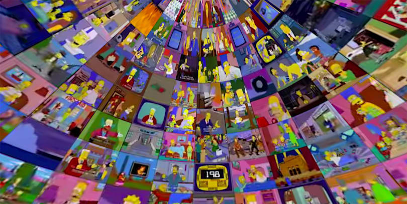 Don't watch 500 simultaneous episodes of 'The Simpsons' in VR