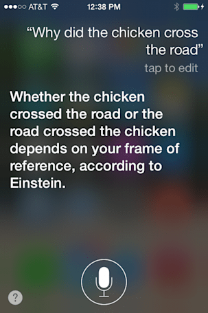 Talking to Siri: Fun chicken tricks (aka the politics of poultry peregrinations)