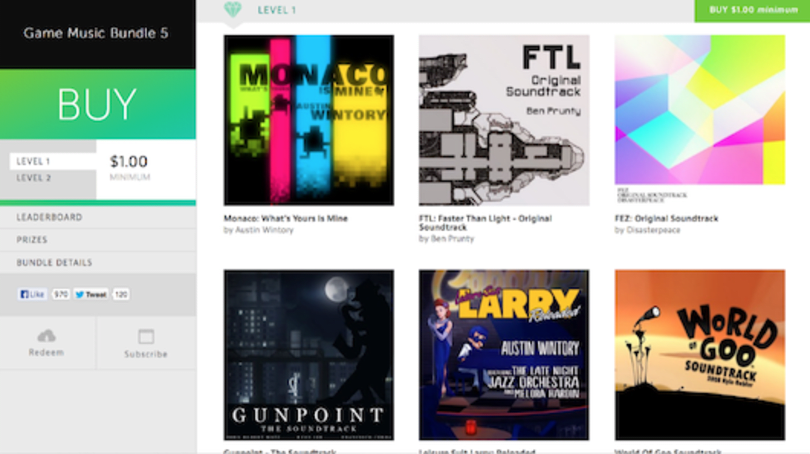 Game Music Bundle 5: Monaco, FTL, Fez, Gunpoint, more