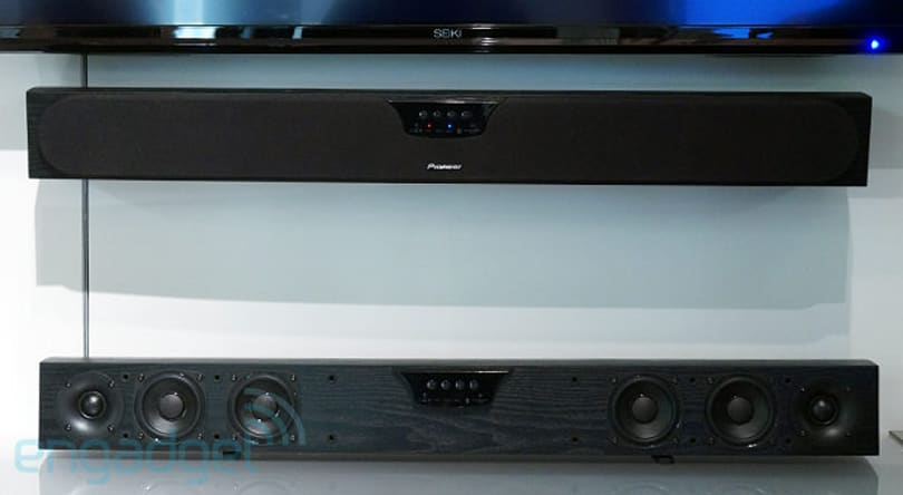 Pioneer introduces first sound bar in 15 years: six speakers and a subwoofer for $399 (hands-on)