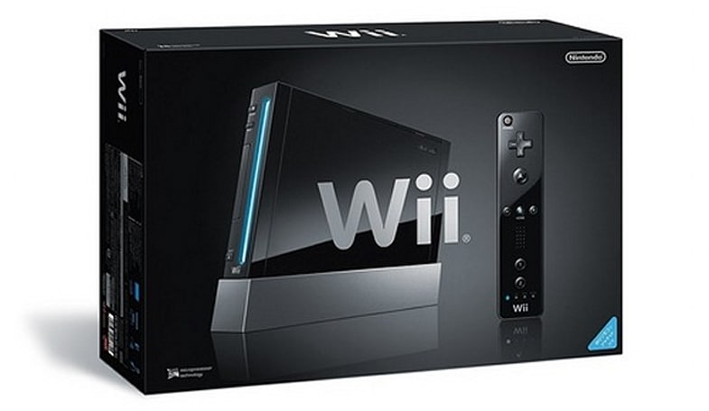Black Wii system comes in a black Wii box