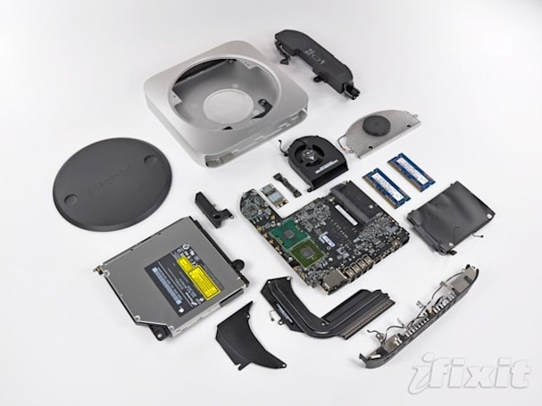 Unibody Mac mini meets iFixit, gets a delicate teardown exposé