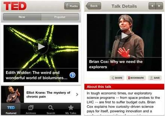 TED launches iPhone app, brings spread-worthy ideas to the small screen