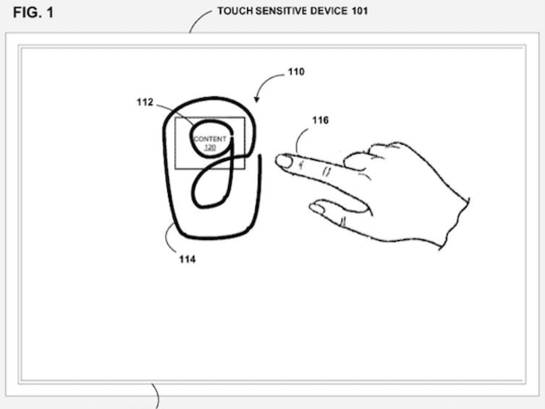 Google's 'continuous gesture' patent application runs circles around copy and paste
