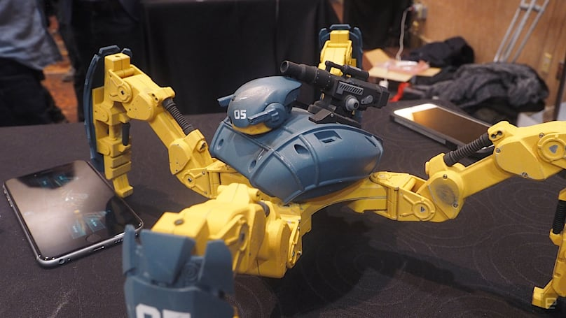 Mekamon is a fighting robot with an augmented reality twist