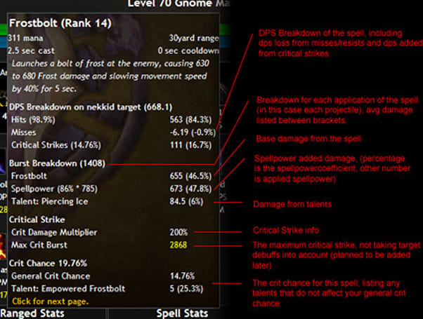 Warcrafter does the heavy math on your character's stats