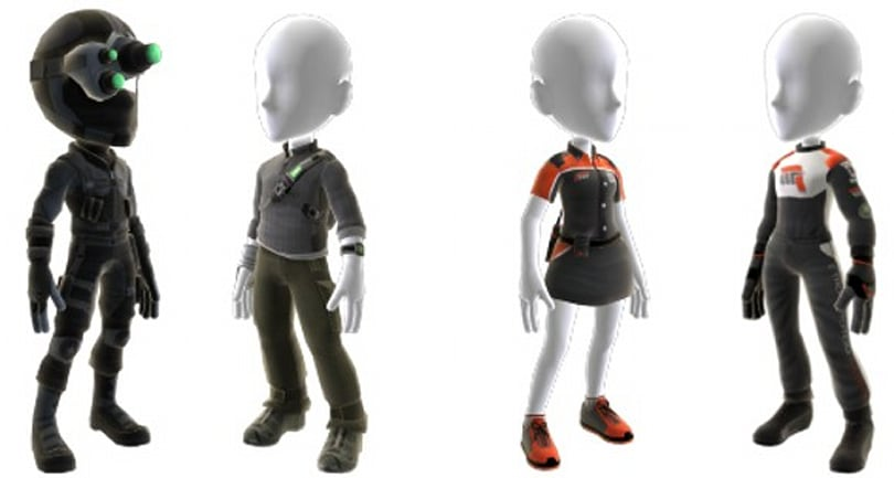Splinter Cell and Forza gear on Avatar Marketplace