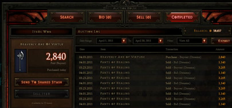 Diablo III Reminder: Auction house closes June 24