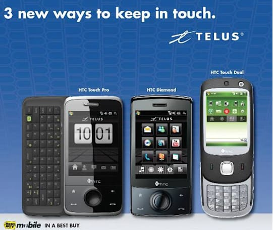 Best Buy spills the beans on Telus' HTC Touch Pro and Touch Dual