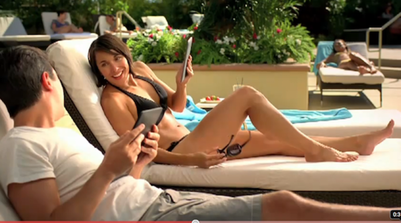 New Kindle ad takes on the readability of iPad in the sun, doesn't have monster sounds