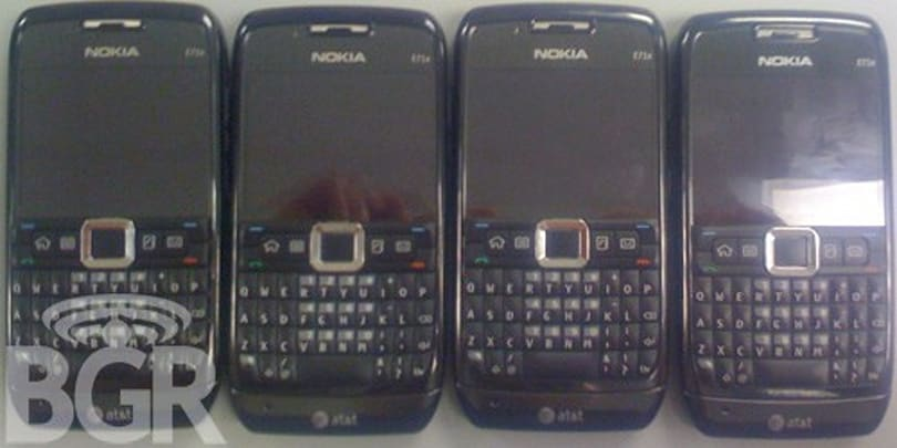 Nokia E71x arriving at AT&T stores, due out next Tuesday