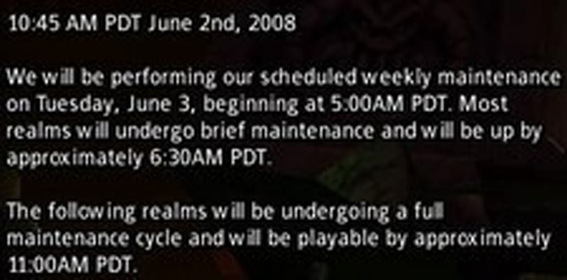 Tuesday maintenance notice and roundup for June 3rd, 2008