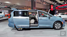 Chrysler's hybrid minivan electrifies grocery getting