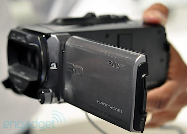 Sony announces 3D Handycam, projector HandyCams, boring HandyCams (update: hands-on video!)