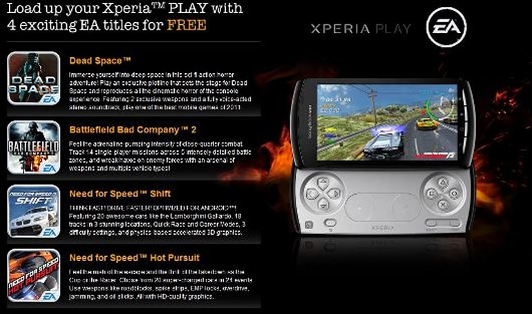 Xperia Play makes itself more enticing for the holidays with four free EA games