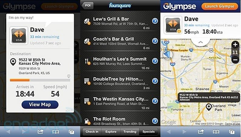 Garmin smartphone apps updated with Foursquare integration, location-sharing via Glympse