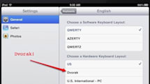 iPad support for hardware Dvorak keyboards in latest SDK beta