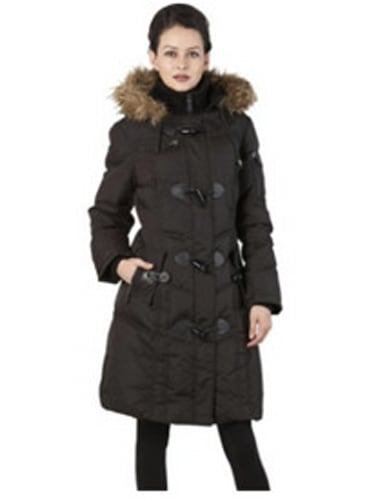 BGSD Water Resistant Quilted Down Toggle Coat