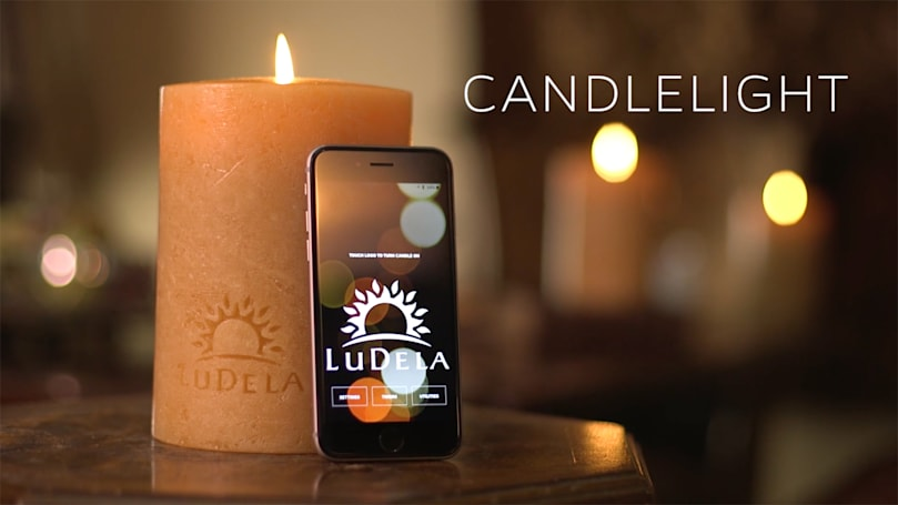 Control this smart candle's real flame with your smartphone