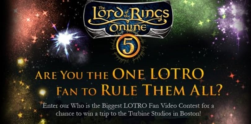 Win a trip to Turbine by making a LotRO fifth anniversary fan video