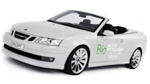 Saab goes double-green with biofuel hybrid