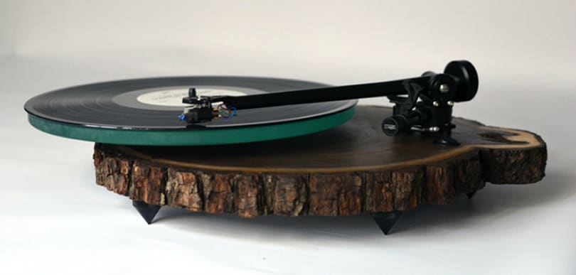 Hand-made wood turntables are the newest scratching post