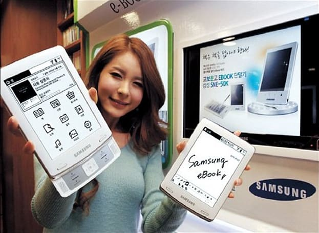 Samsung's sliding, handwriting-recognizing SNE-60K e-reader hits South Korea