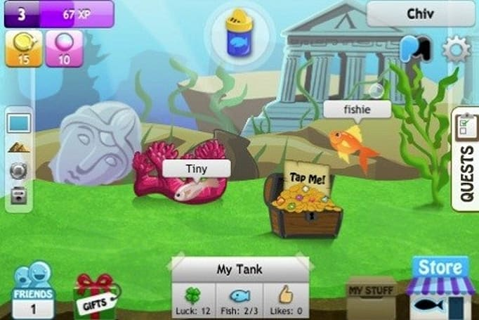 Fishies in-app purchases are fishy