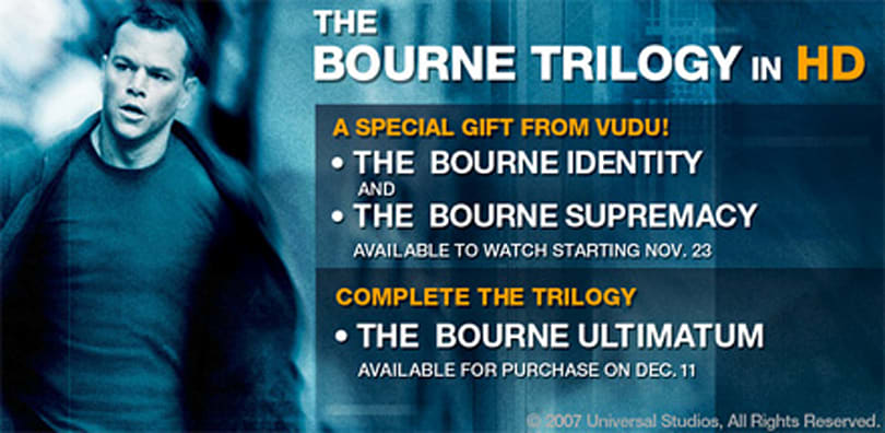 The Bourne Ultimatum simultaneously launching in HD on VUDU