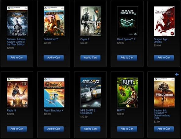 Games for Windows Marketplace, Xbox.com becoming one big, game-obsessed family