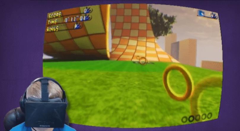 Sonic The Hedgehog's gotta go fast on Oculus Rift