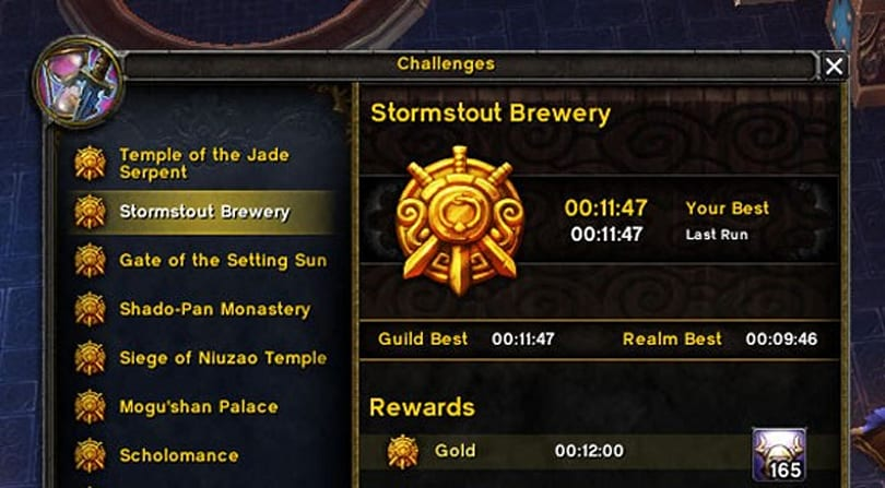 Patch 5.4 PTR: Challenge Mode titles for fastest clear times