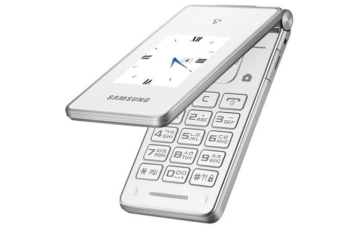 Samsung brings Korea's elderly a new flip-phone with dual screens