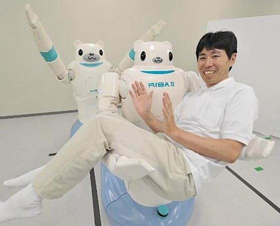 RIBA-II healthcare robot now stronger, smarter -- still a bear
