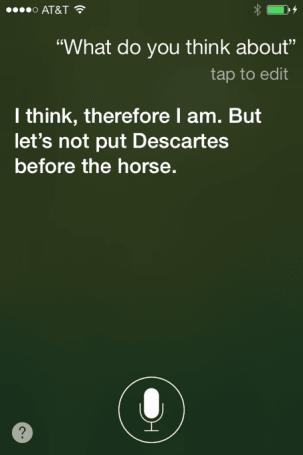 Talking to Siri: Thinking different
