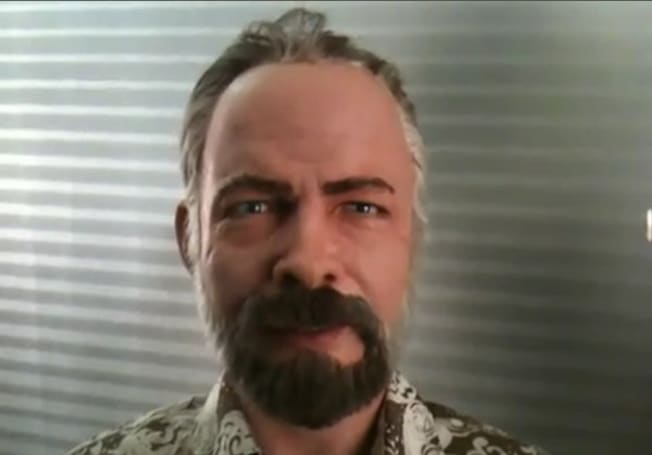 Flow my tears, the newly-built robotic head of Philip K. Dick said